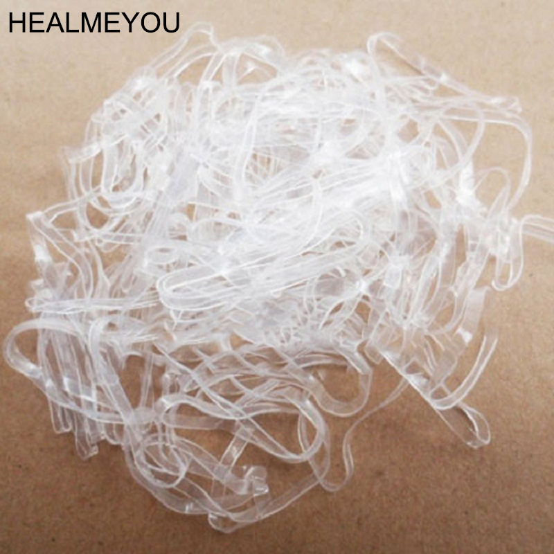160pcs/lot Trendy Transparent Rubber Band Women Girls Elastic Hair Band Tie Rope Fashion Hair Accessories