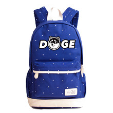 360b275c99 2018 Funny Doge Printing Backpack Shiba Inu Cartoon Women Shoulder Bags  Husky School Backpack Kawaii Canvas Backpack Rucksack
