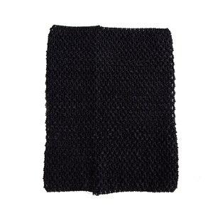 Вязаный топ-труба 9x10 дюймов, топ-пачка для маленьких девочек, вязаная юбка-американка топ-пачка, вязаная крючком повязка на голову, смешанные цвета, 10 шт. в партии - Цвет: Black 10pcs