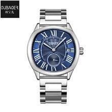 купить Reloj Hombre Men Quartz Waterproof Watch for Men's Stainless Steel Calendar Business Watches Wristband Horloge Mannen по цене 1303.41 рублей