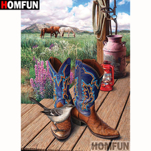 HOMFUN Full Square/Round Drill 5D DIY Diamond Painting Shoes bird scenery Embroidery Cross Stitch 5D Home Decor Gift A18258 homfun full square round drill 5d diy diamond painting deer scenery embroidery cross stitch 5d home decor gift a18124