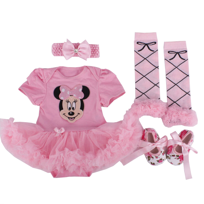 Christmas Dress Newborn Minnie Clothes Baby Girls Clothes Toddler Girl Clothing Set Infant Minnie Mouse Costume Xmas Gifts 0 24M