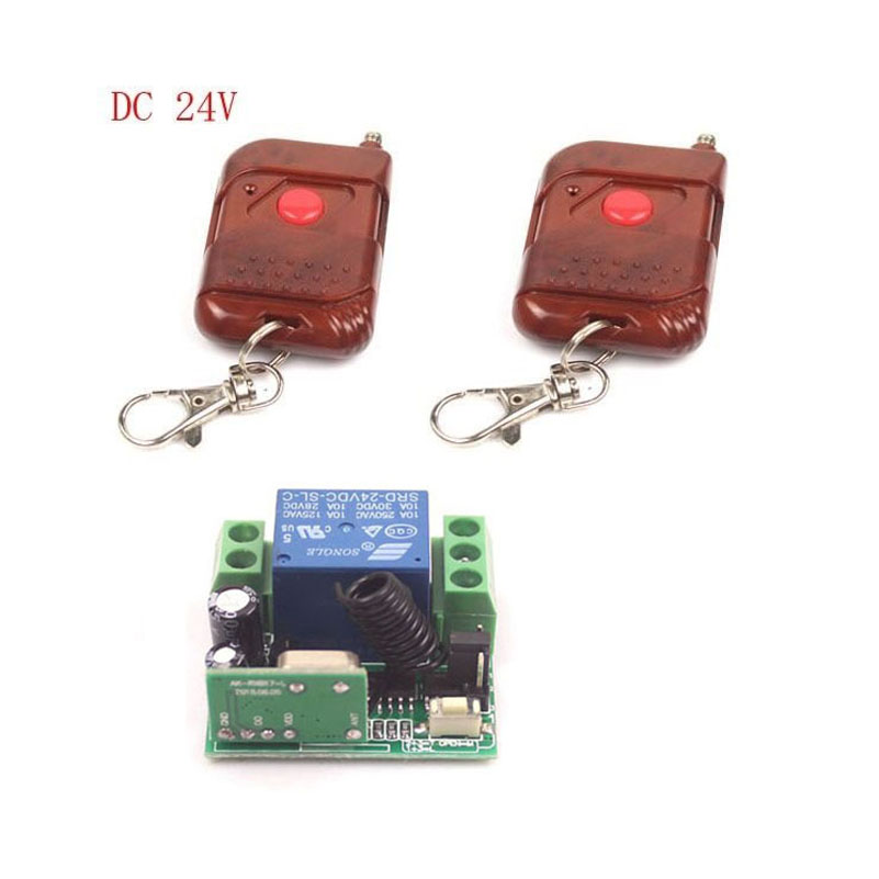 Sleeplion DC 24V 10A 1CH RF Relay 2 wireless Control Switch Transmitter+Receiver Power ON/OFF
