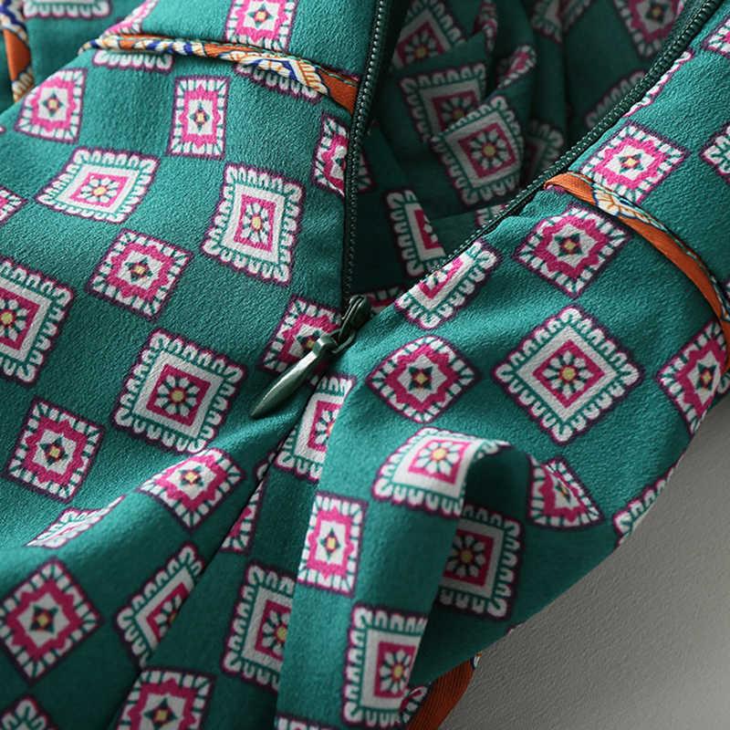 BIAORUINA женское винтажное клетчатое ТРАПЕЦИЕВИДНОЕ мини-платье с оборками женское с высокой талией с глубоким v-образным вырезом элегантное женское летнее платье