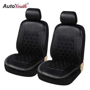 Fashion Front Seat Covers PU Automobile Seat Covers Auto Seat Cover Leather Soccer Ball Style For Lada peugeot toyota mazda 2PCS image