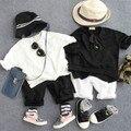 Новые 2016 летние мальчики нерегулярные с коротким рукавом майка дети летняя мода майка мальчиков повседневная одежда