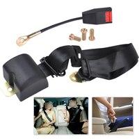 DWCX Car 3 Point Retractable Seat Lap Belt Safety Strap Adjustable Security For VW Golf Mercedes