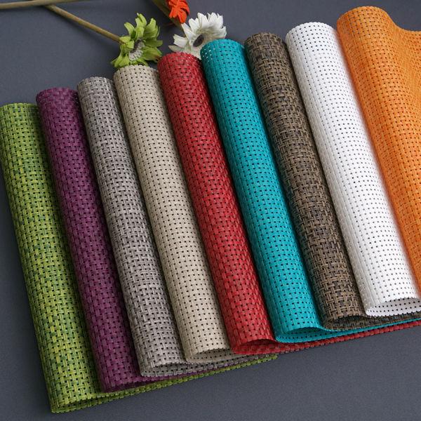 2017 set de 4 pvc couleur bloc napperons pour salle a manger chemin de table linge napperon en accessoires de cuisine coupe vin tapis