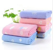 Children Baby Blankets Muslin Cotton 6 layers Gauze Infant Swaddling Toddler Kids Cute Super Soft Safe