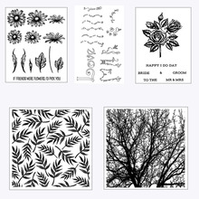Plants / Flowers Transparent Clear Stamp for Scrapbooking Rubber Seal Paper Craft Stamps Card Making