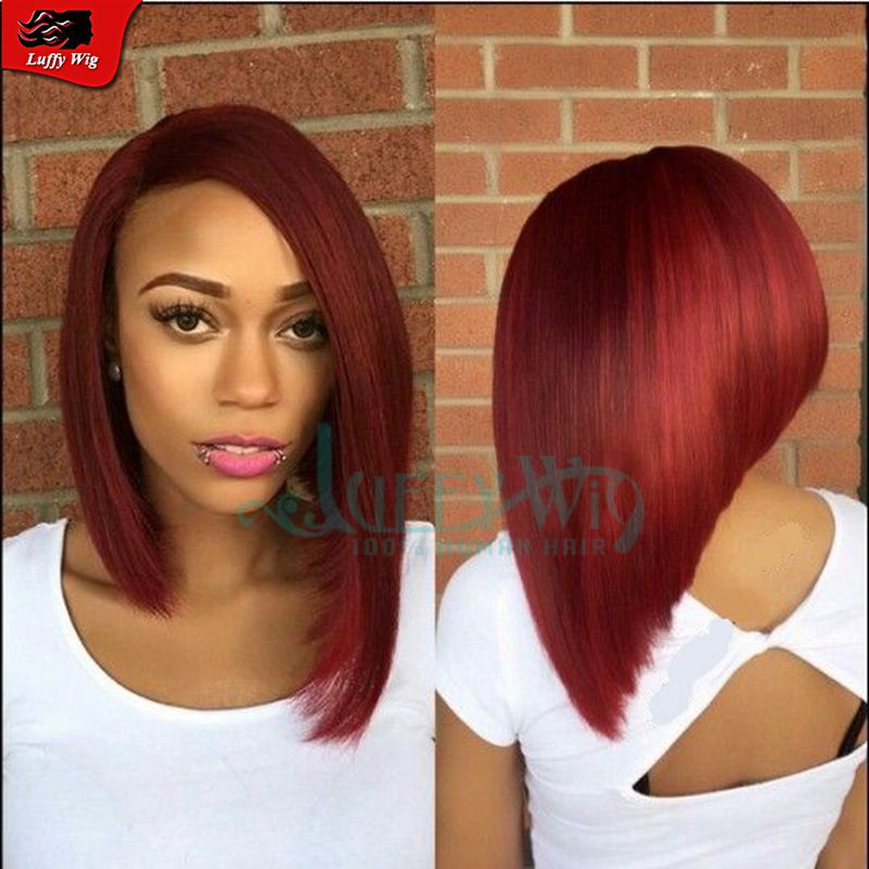Fire Engine Bob 2016 Summer New Arrival Red Color Human Hair Wigs