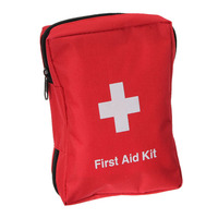 Outdoor Survival 12 In 1 Emergency Bag First Aid Kit Bag Middle Size Red Emergency Survival