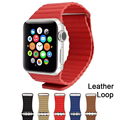 Novo laço de couro magnético para apple watch band strap banda de fitness 42mm 38mm para iwatch edição esporte atacado meia azul