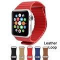 Nuevo lazo de cuero magnética para apple watch banda de la aptitud de la correa 42mm 38mm para iwatch venda de medianoche edición deportiva al por mayor azul