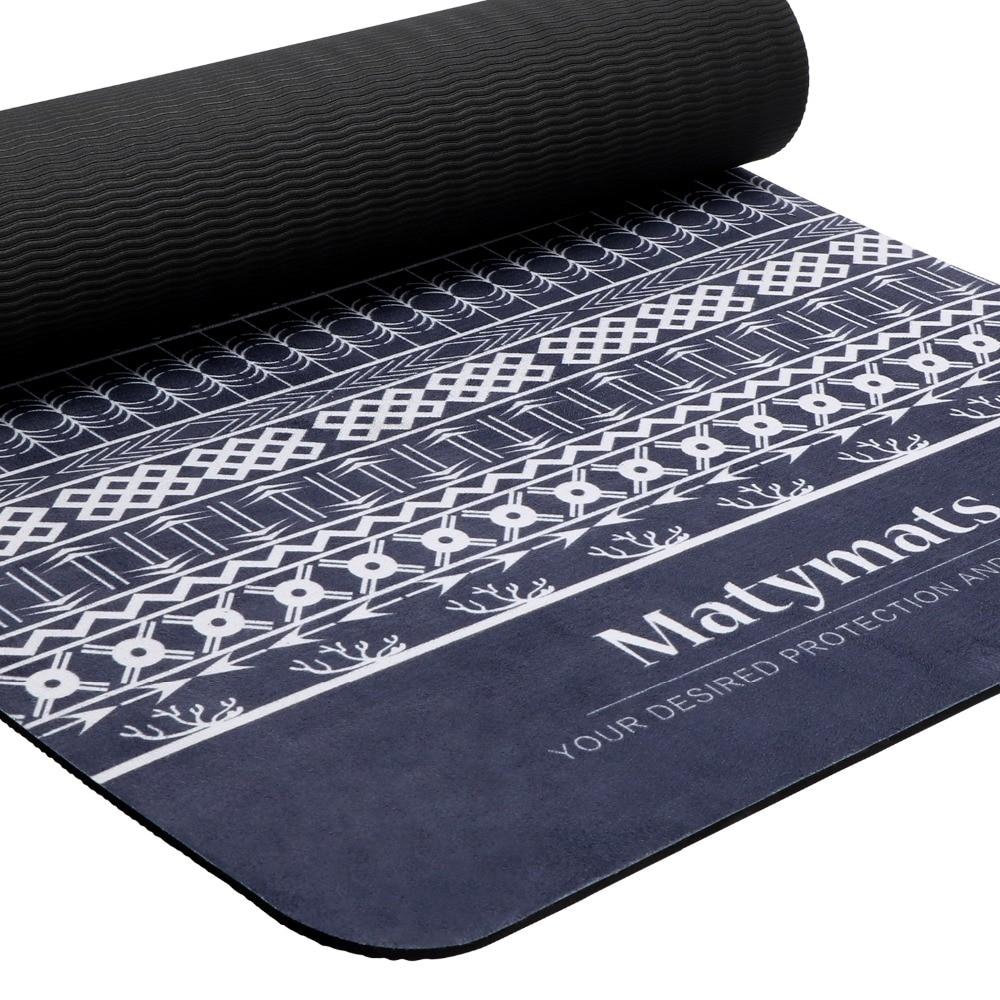Matymats 183 cm * 63 cm Chaude Tapis De Yoga 5mm Multi-fonctionnelle Microfibre TPE Tapis Non-Slip sport Tapis Pour Remise En Forme De Yoga