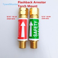 Flashback Arrestor 1 Pair Torch Mount 9 16 X18R H Oxygen CGA022 9 16 X18L H