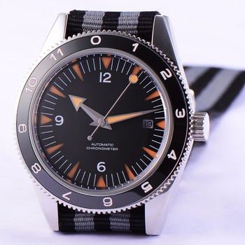 Debert 41mm black dial luminous sapphire glass male clock luxury top brand Mechanical Automatic mens Wrist watch