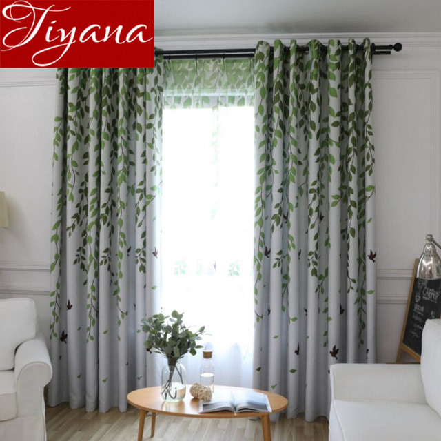 Rustic Curtains For Living Room Willow Birds Printed Voile Tulle Window Bedroom Kitchen Sheer Fabrics D T 207 30