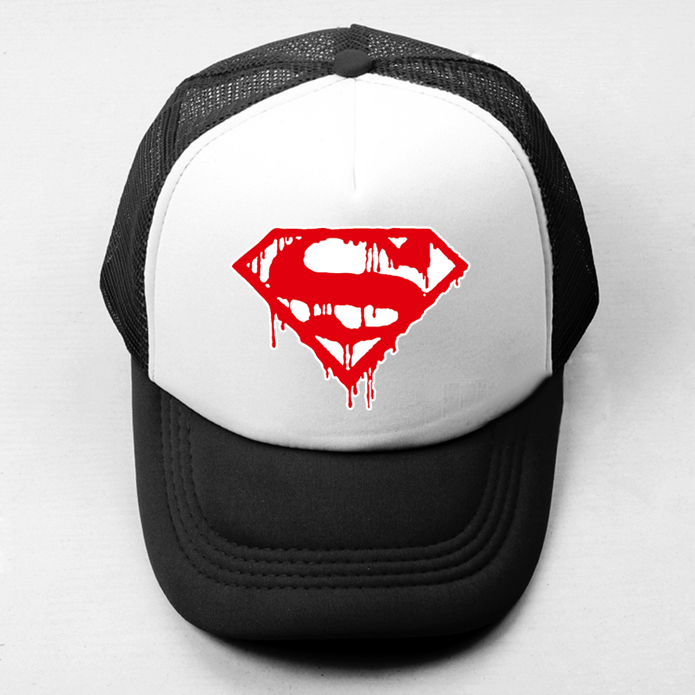 more photos 48f09 c910f Summer Casual Unisex Men Women Baseball Caps DC Comics Superman Kal-El  Clark Kent Superman Symbol Mesh Caps Adjustable Sport Hat