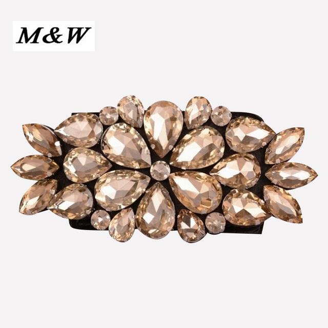 2017 novo Ultra-Grande Diamante Moda Cintos Femininos Cintos Feminino Cinto Largo Elástico Outono E Inverno Camisola Pele Para mulheres