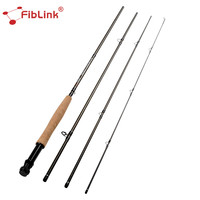 Fiblink Fly Fishing Rod 2.6/2.7M 4 Sections 5/6 7/8 WT Line Carbon Fiber Rod Soft Cork Handle Lightweight Portable Holiday Sale