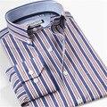 Smartfive camisa da marca do homem 100% algodão de manga longa mens camisas listradas dos homens casual slim fit camiseta masculina clothing
