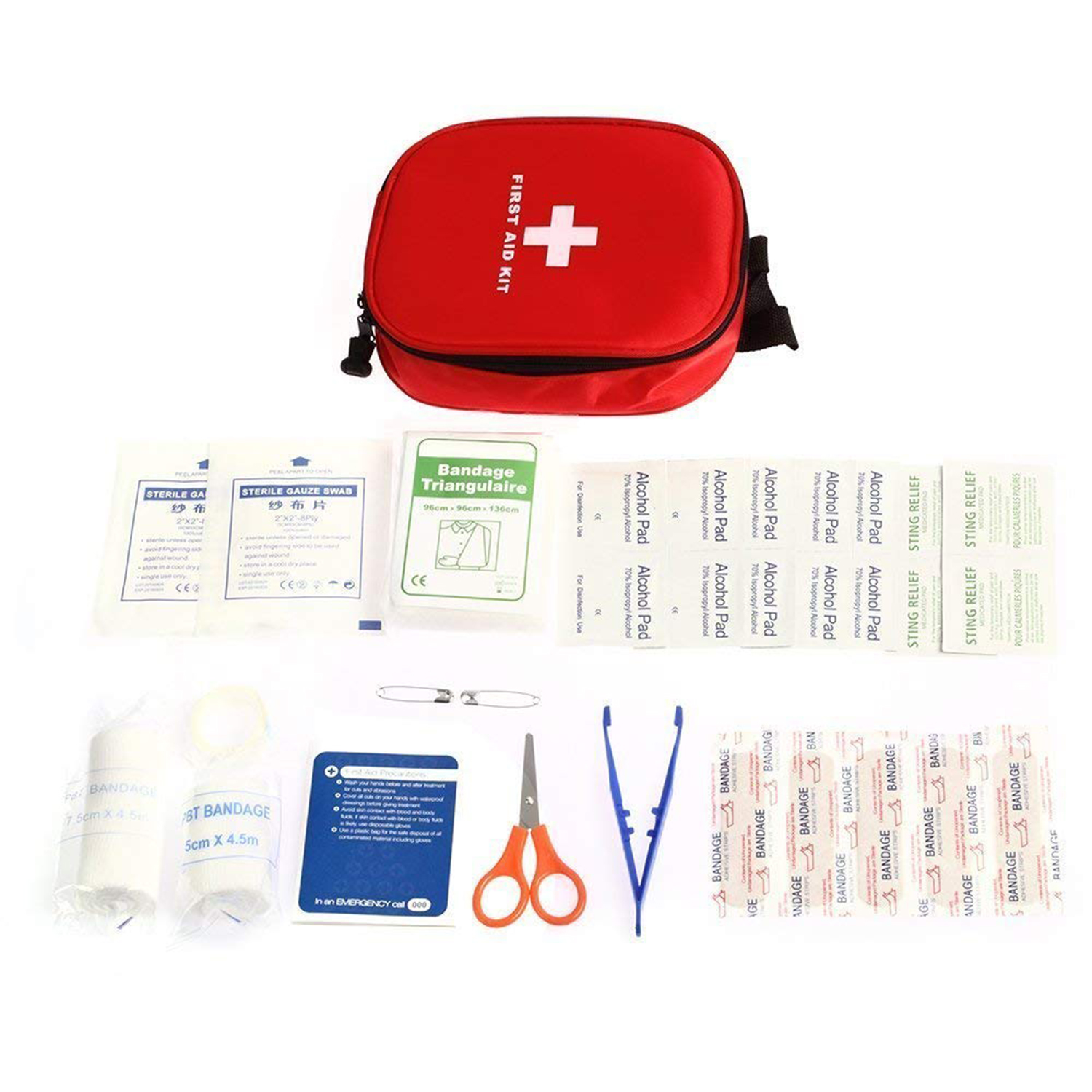 MOOL First Aid Kit- Medical Emergency Kit Waterproof Portable Essential Injuries For Car Kitchen Camping Travel Office Sports
