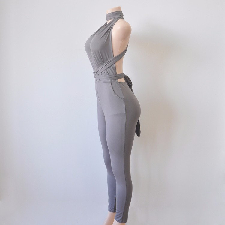Grey elegant jumpsuit