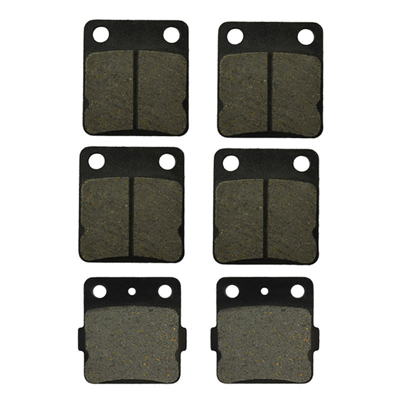 Motorcycle Front and Rear Brake Pads for YAMAHA ATV YFS 200 YFS200 Blaster 2003-2006 Black Brake Disc Pad motorcycle front and rear brake pads for yamaha fzr 400 a fzr400a 1990 brake disc pad