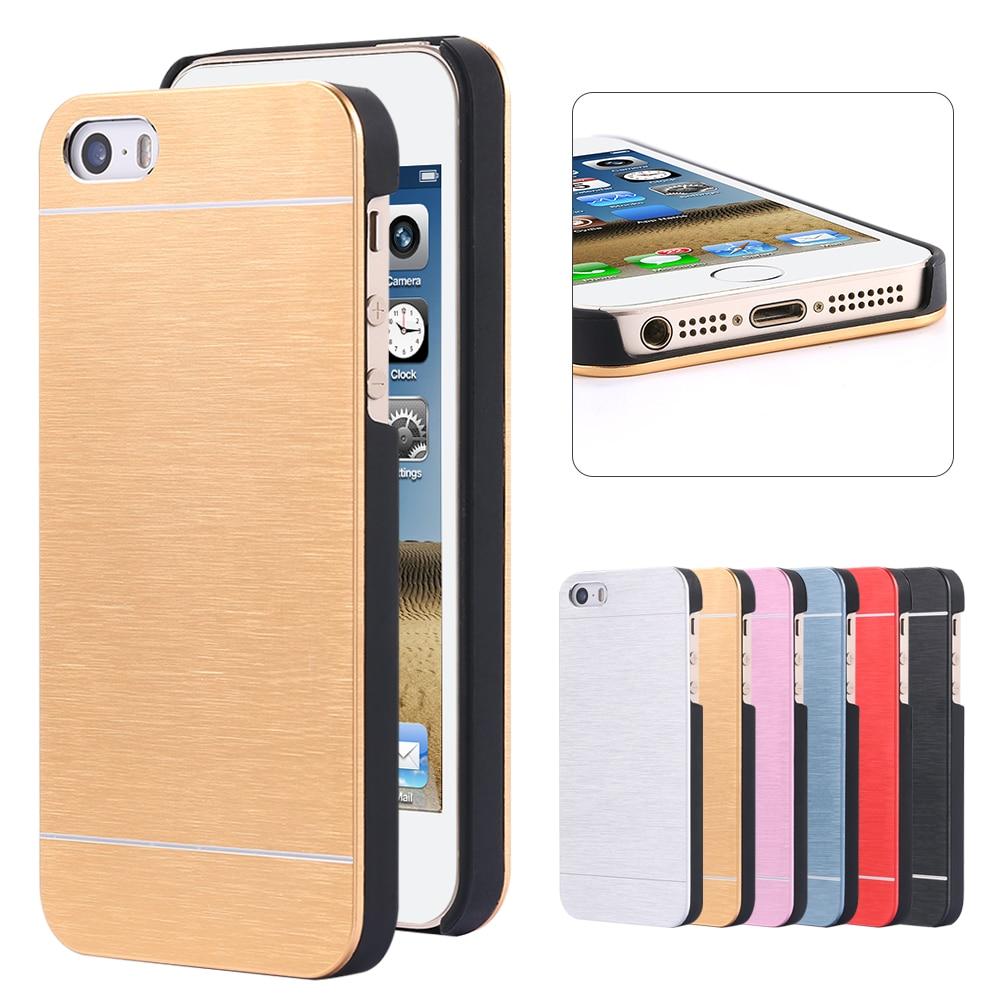 KISSCASE Motomo Brosse Boîtier En Aluminium Pour iPhone 5 5S SE Métal De  Luxe téléphone Cas Pour iPhone 7 8 6 s 6 Plus Coque Accessoires Couverture 3569f286978