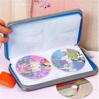 80x компакт-диск/VCD/DVD портативная коробка для хранения бумажника жесткая коробка держатель сумки сжатие плоский для дома путешествия