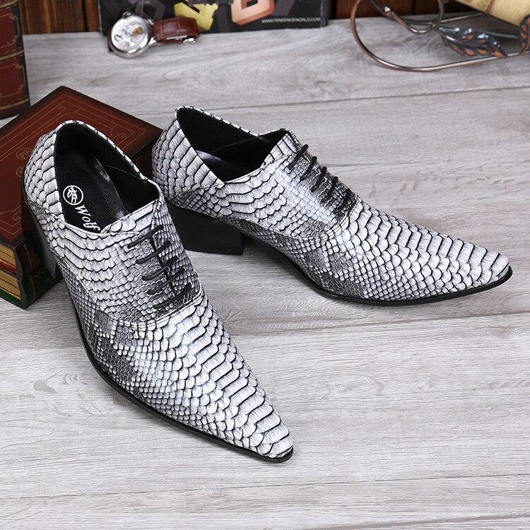 Homens Formal Branco Peixes Negócios Sapatos Couro Partido Apontou Vestido Nightclub Escalas Clássicos Estilo Padrão De Novos Casamento Do dq0wRBd8x