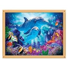 5D DIY Diamond Painting Marine Biopattern Full Round Cross Stitch Mosaic