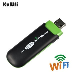 Image 4 - KuWFi 7.2Mbps 3G USB WIFI Router Mini Wireless USB WiFi Modem&Router With SIM Card Slot for Bus or Car