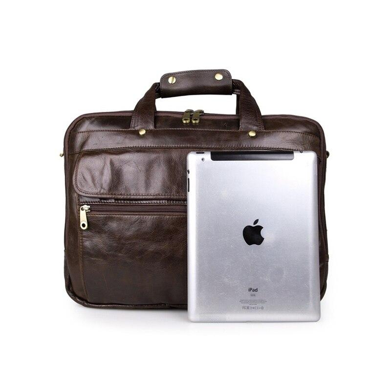 Echtem 7146grey tasche Für Aktentaschen Top Cowather Leder 7146black Griff Männer Laptop Handtasche 7146coffee Casual Reisetasche pRFHSgq