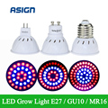 36Leds 54Leds 72Leds 220V Plant Growth Light  E27 GU10 MR16 Full Spectrum Red+Blue Lamp For Indoor Or Desktop Plants