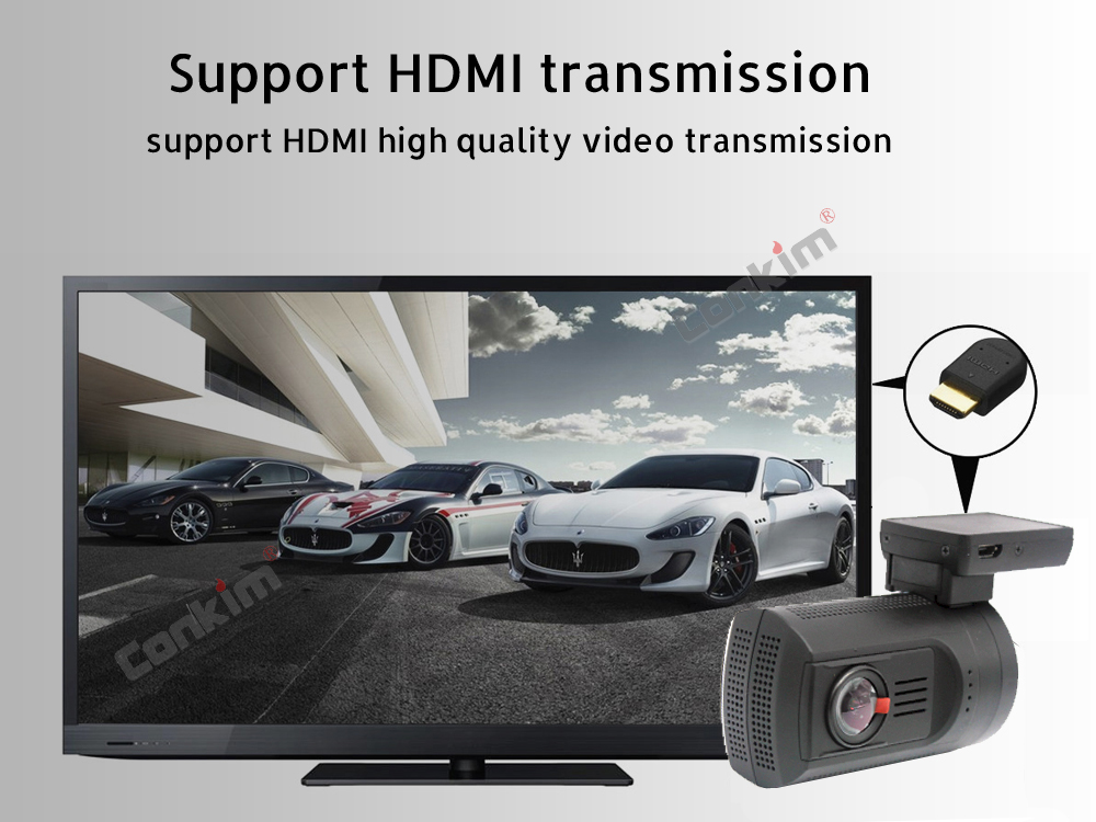 Conkim Dual Lens Car Dash Camera GPS DVR Front 1080P FHD+Rear Camera 1080P FHD Parking Guard Motion Detect Mini 0906 Novatek Cam 13