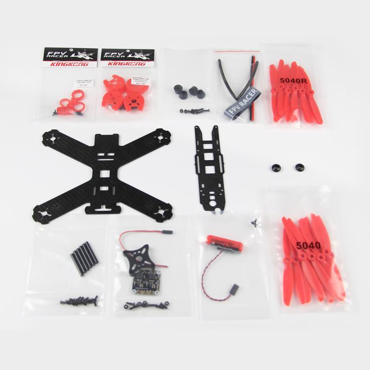 KINGKONG 210 KIT Frame 210MM Carbon Fiber High strength Mini Rack for RC Quadcopter Racing Drone Aircraft diy fpv mini drone qav210 zmr210 race quadcopter full carbon frame kit naze32 emax 2204ii kv2300 motor bl12a esc run with 4s