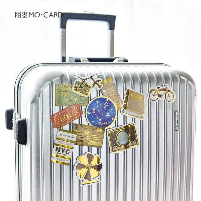 Золотой клейкий стикер скрапбукинга домашнее украшение чемодана DIY Аксессуары 360 штук наклейки подарок для девочек смешанный цвет