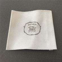 Custom High Density Taffeta End Fold Woven Labels Clothing Main Garment