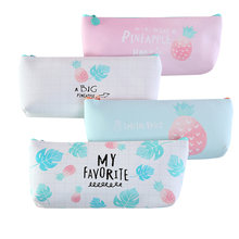 1PC Party favor Creative cute fruit simple pencil case Kawaii Pen Bag Gifts School Office Pencil boxs 4 selections(China)