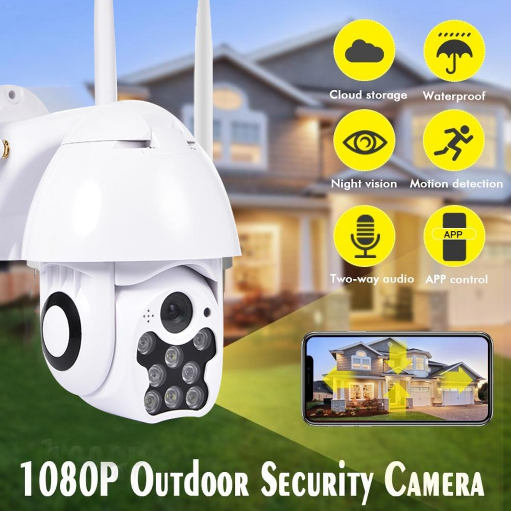 HD 1080P 8LED PTZ Control IP Camera Mini WIFI Outdoor Dome Home Security IP Camera Wireless CCTV Onvif Waterproof Night Vision