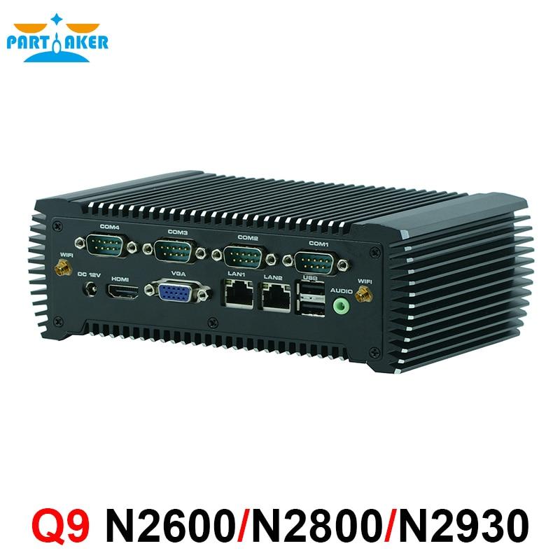 RS485 COM Industrial Mini PC Fanless PC With Intel Celeron Processor N2930 2*RTL8111E Gigabit Ethernet