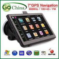 Wholesale 5 Pcs Lot 7 Inch Car GPS Navigator Navigation Gps MTK 800MHz 800 480 4G
