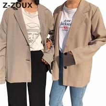 Z-ZOUX Women Coat  Women Blazer Suit Coats Color Matching Vi