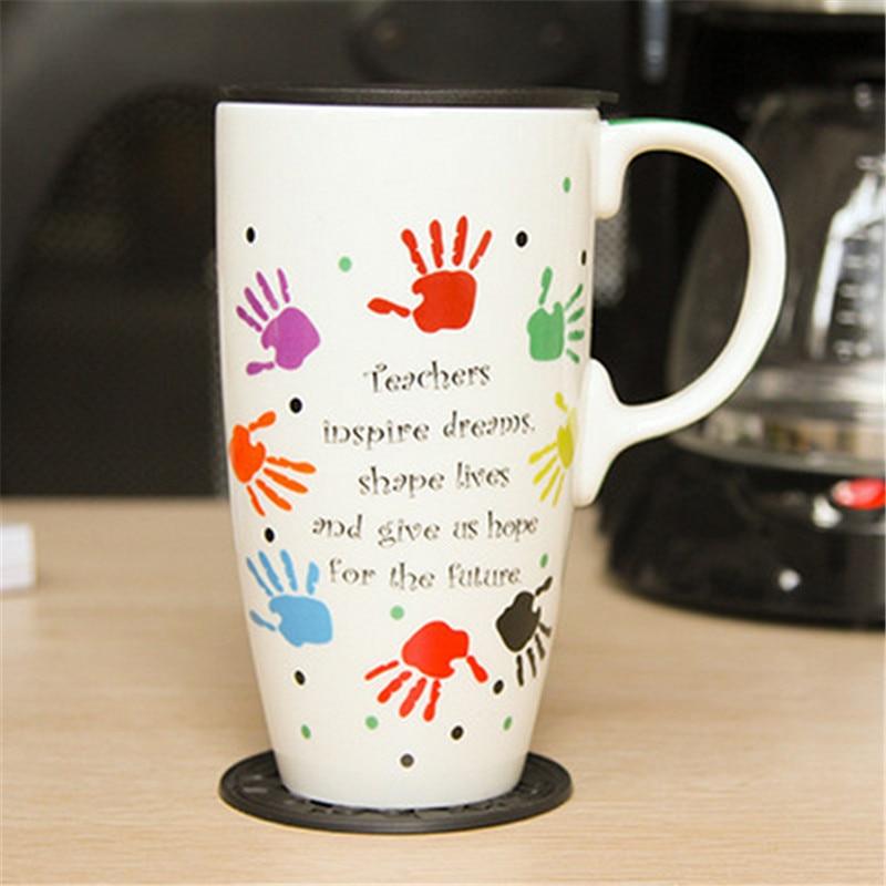 New High Quality 1 Pcs Large Capacity Creative Custom Painted Mug Ceramic Cup Coffee Mugs Multiple Pattern Selectable Car Cups