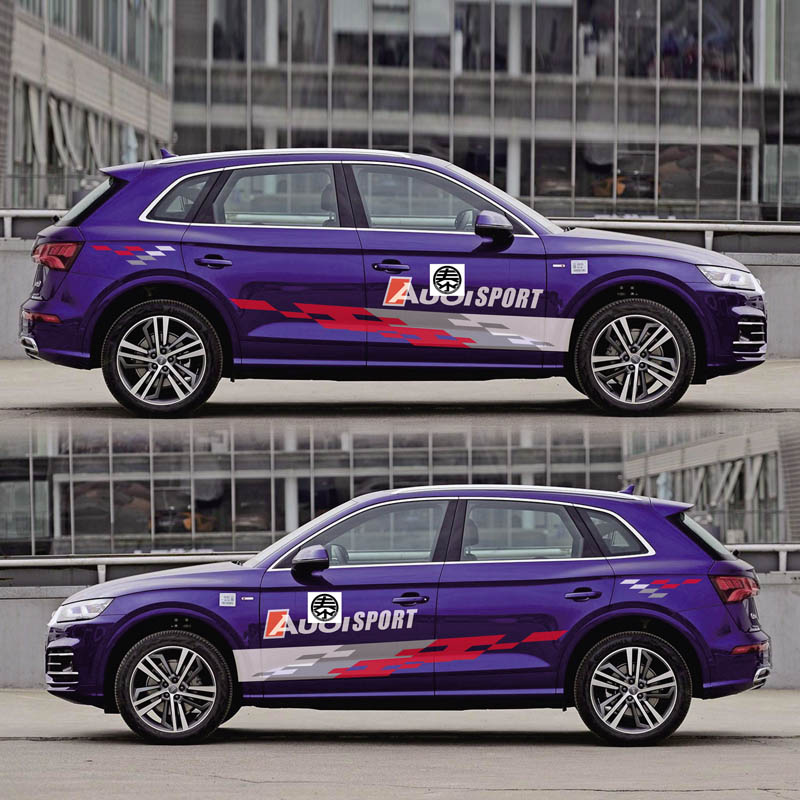 World Datong sport auto stickers for Audi Q5 SQ5 Door Side Body Decor Sticker Auto Accessories