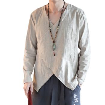 Tradycyjna chińska odzież dla mężczyzn tradycyjny chiński koszula tang garnitur orientalne odzież męska odzież kungfu tanie i dobre opinie Topy Pościel