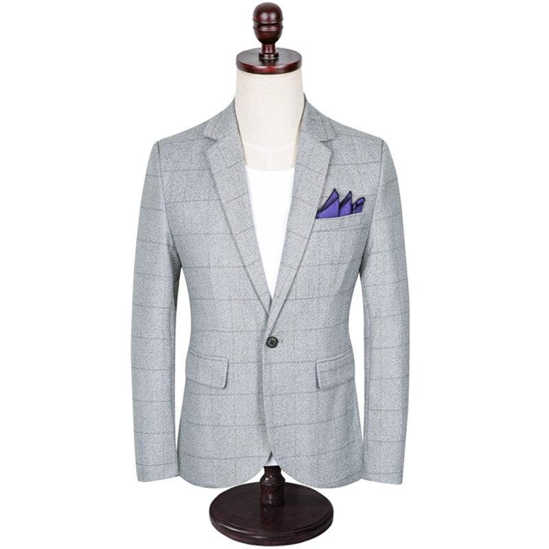 British style male blazer XL Korean spring and autumn trend Slim mens suit jacket M-5XL high quality coat