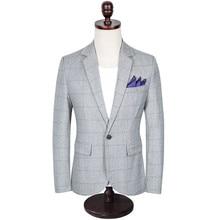 где купить British style male blazer XL Korean spring and autumn trend Slim men's suit jacket M-5XL high quality suit coat male по лучшей цене